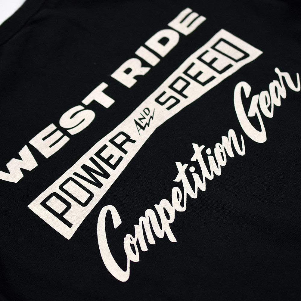 "May club -【WESTRIDE】""DIXIE SPEEDWAY"" LONG SLEEVES TEE - BLACK"