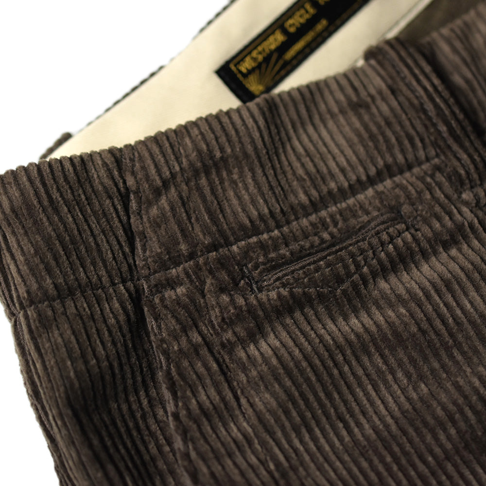 May club -【WESTRIDE】THICK RIDE PANTS - CORDS BRN