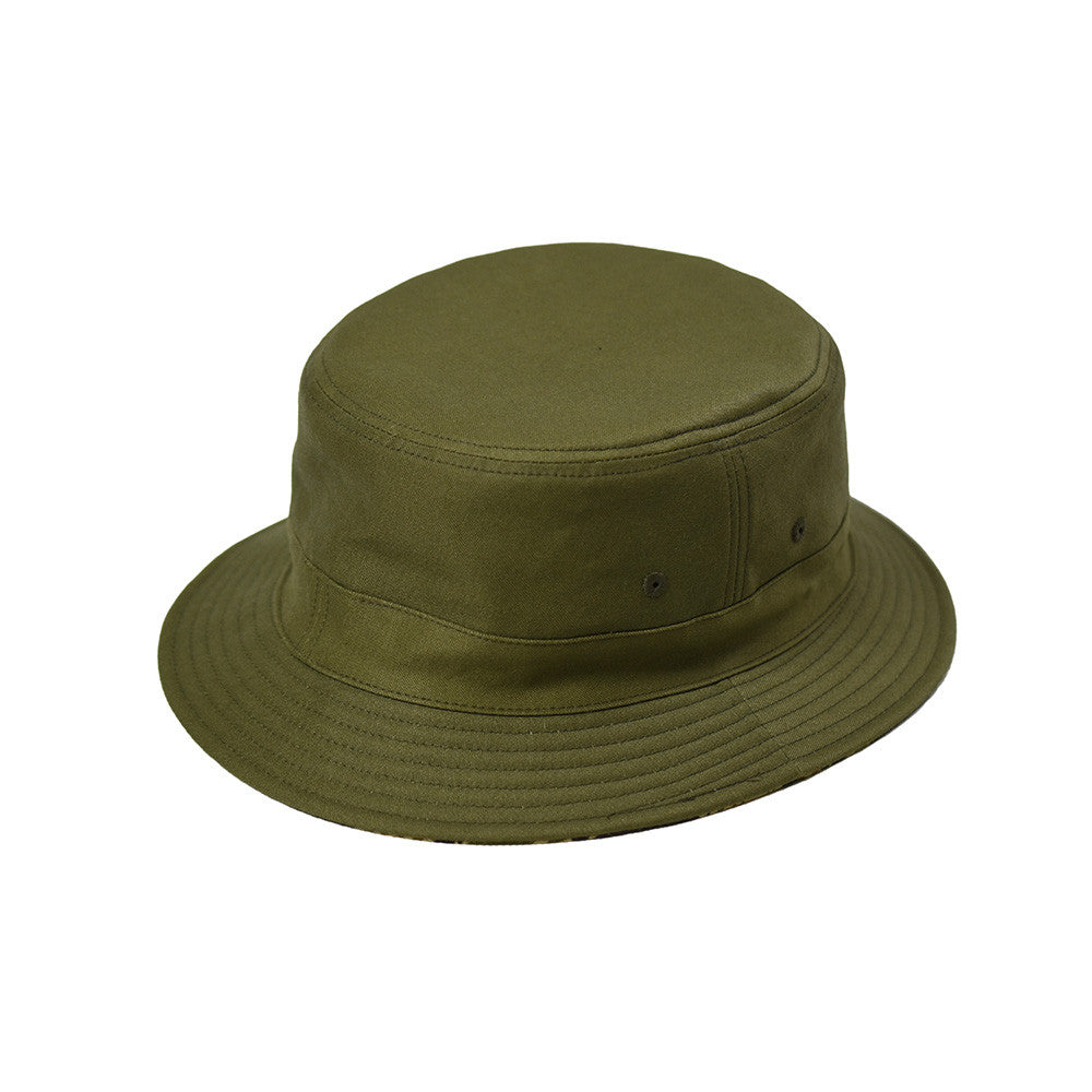 REVERSIBLE BUCKET HAT  TIGER/OLIVE - May club