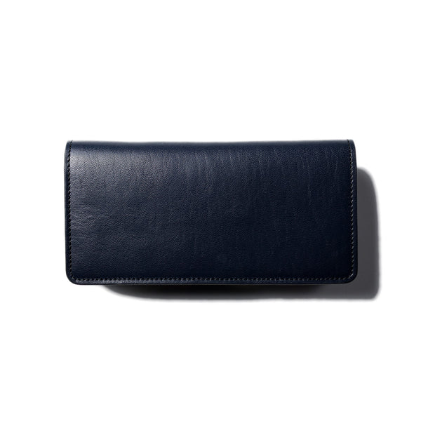 May club -【Addict Clothes】AD-W-01H HORSEHIDE LONG WALLET - DARK BLUE