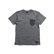 "May club -【WESTRIDE】""CHECKER POCKET"" TEE - GREY"