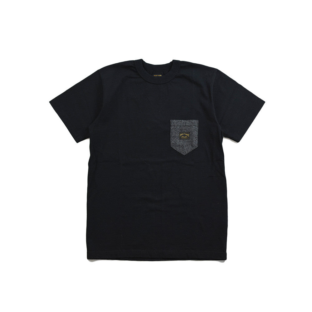 "May club -【WESTRIDE】""HEATHER POCKET"" TEE - BLACK"
