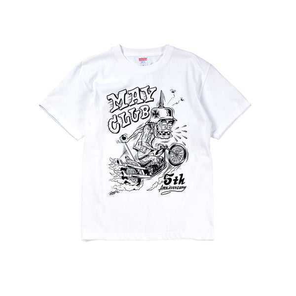 MAY CLUB x KNUCKLE 5th ANNIVERSARY TEE