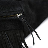 May club -【BAD QUENTIN】SUEDE FANNY PACK - BLACK