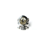 May club -【HWZNBROSS】C.T.M x HWZN MFG. BOMB SIGHT SKULL RING(SILVER x BRASS)