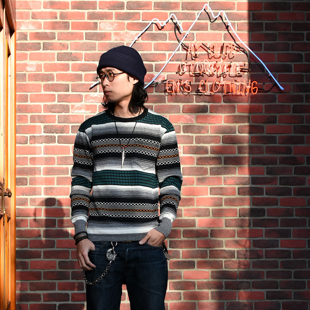 May club -【WESTRIDE】CLASSIC RIB L/S SWEATER - OUTRAW RUG