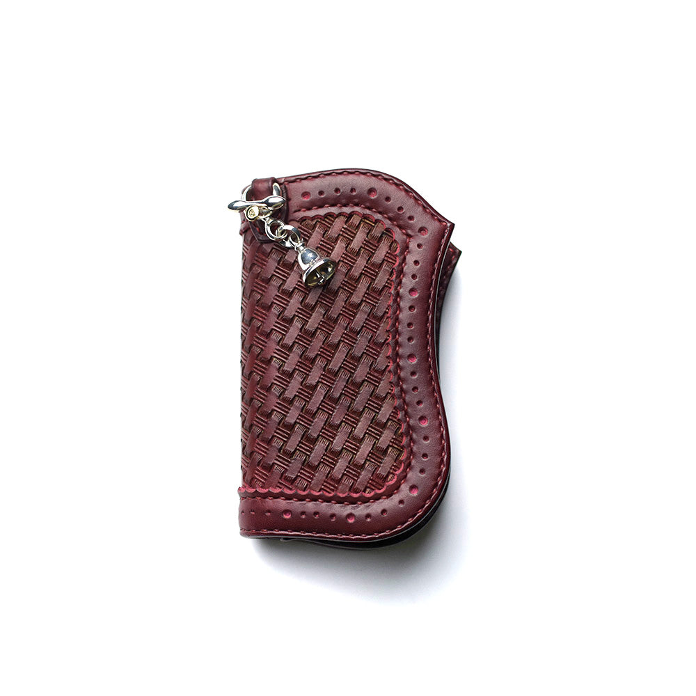 May club -【ATELIER CHERRY】CUSTOM MEDIUM 13 WALLET WITH SHAFT BELL - BURGUNDY