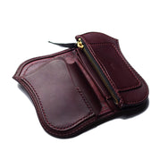 CUSTOM MEDIUM 13 WALLET WITH SHAFT BELL - BURGUNDY