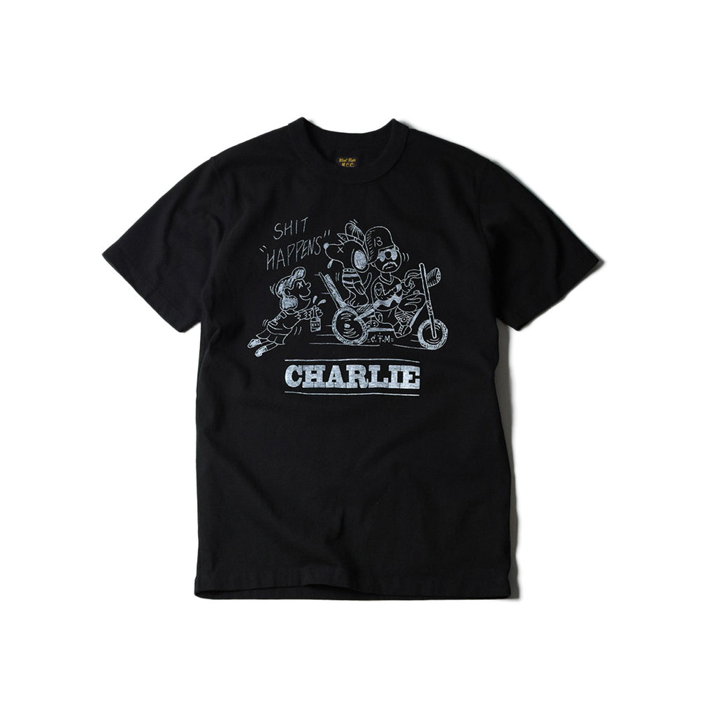 "May club -【WESTRIDE】""CHARLIE"" TEE - BLACK"