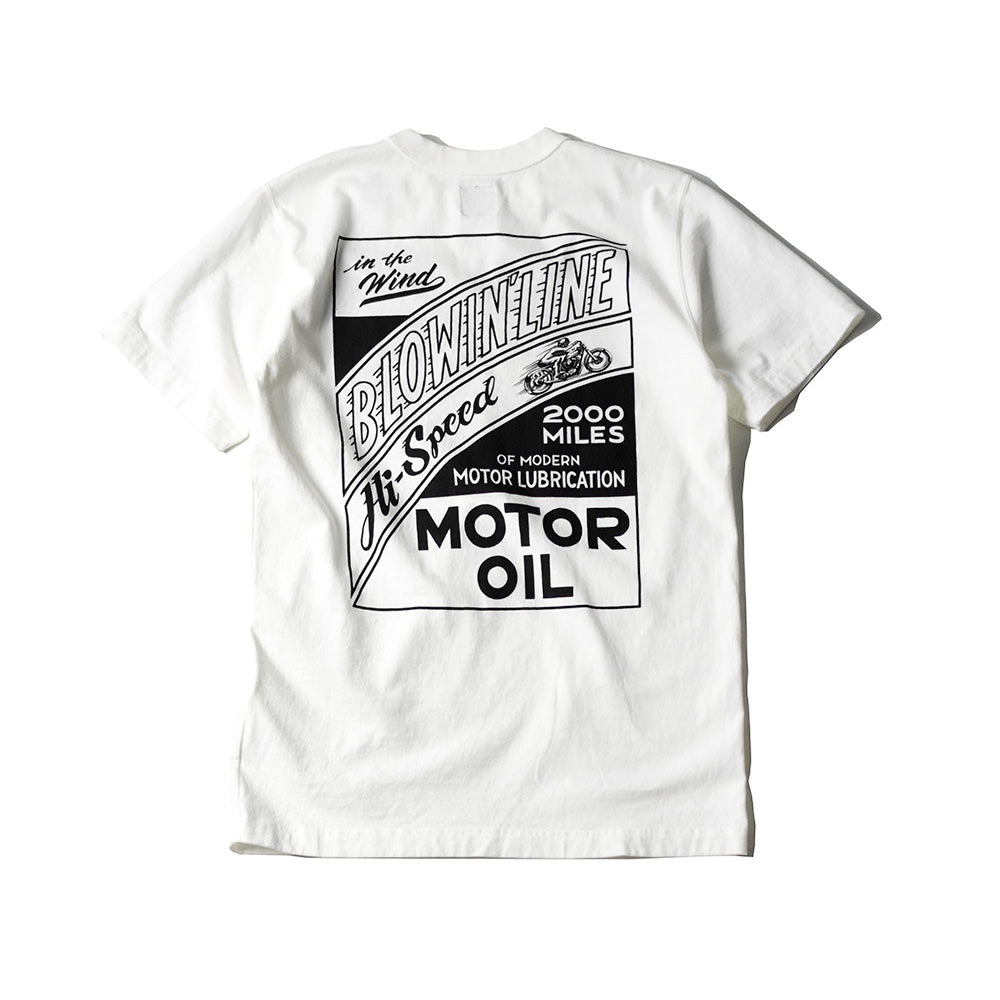 "May club -【WESTRIDE】""BLOWIN' LINE"" TEE - WHITE"
