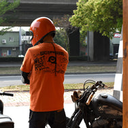 "May club -【WESTRIDE】""CHOPPER SAVED MY LIFE"" TEE - ORANGE"