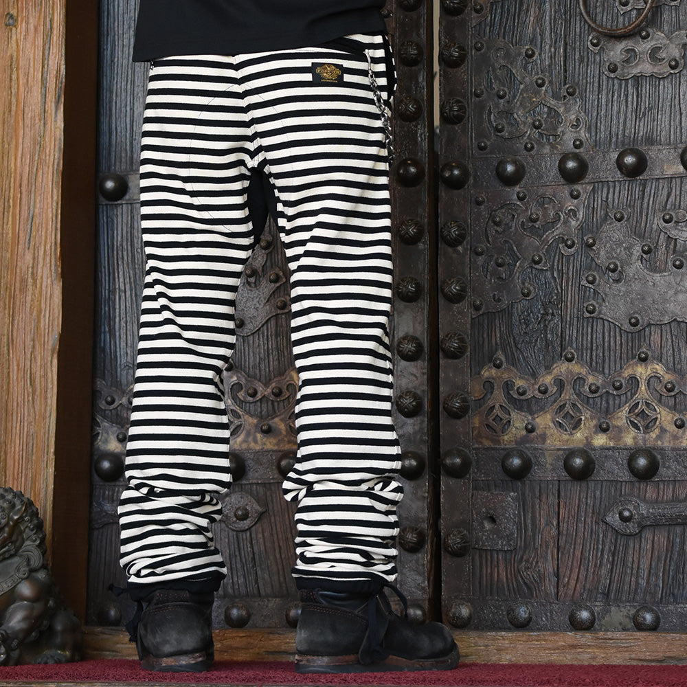 May club -【WESTRIDE】BORDER LONG PANTS ( 1CM 間隙) - CREAM