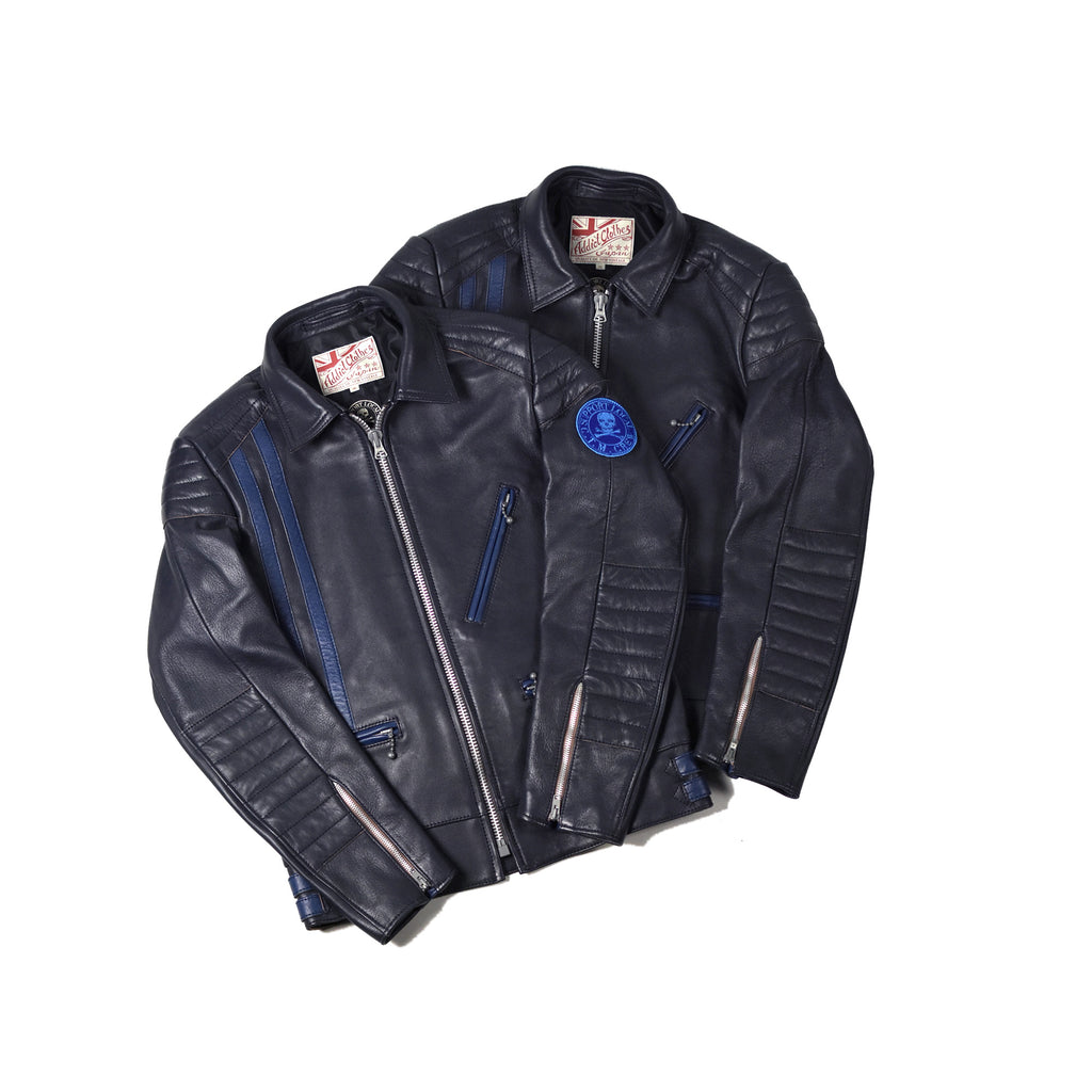 May club -【May club】MAY CLUB x C.T.M x ADDICT CLOTHES - BLUE HIGHWAY LEATHER JACKET