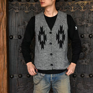 May club -【WESTRIDE】CHIMAYO KNIT VEST - GREY