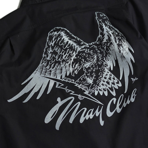 MAY CLUB x WEST RIDE x PSYCHO 7TH ANNIVERSARY SHIRTS - BLACK