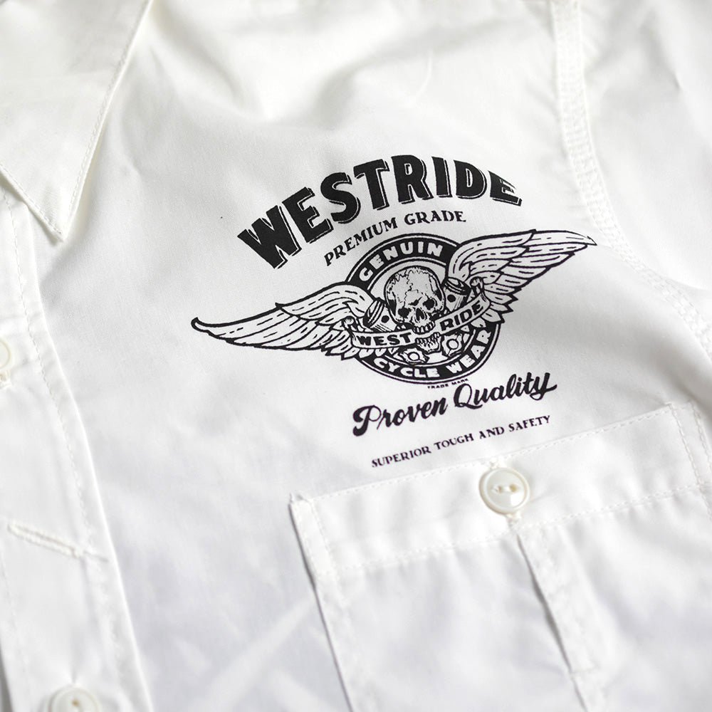 May club -【May club】MAY CLUB x WEST RIDE x PSYCHO 7TH ANNIVERSARY SHIRTS - WHITE