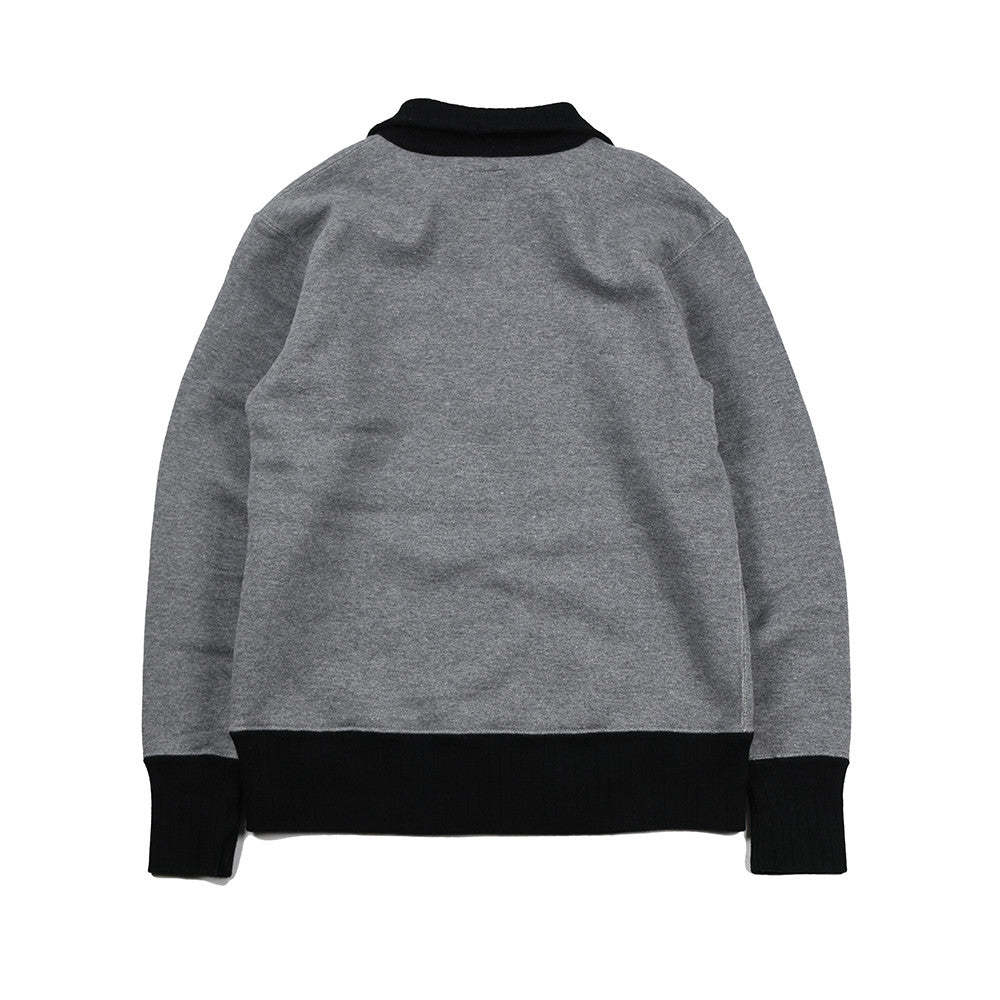 May club -【WESTRIDE】HALF ZIP HEAVY MC JERSEY H.GRY/BLK(PLAIN)