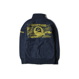 May club -【WESTRIDE】HEAVY WEIGHT FULL ZIP STAND - CATHERINE (NAVY)