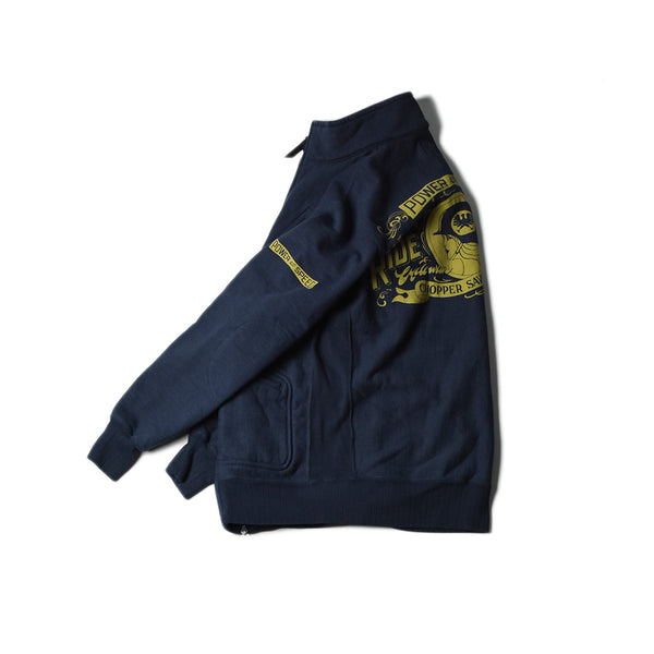 HEAVY WEIGHT FULL ZIP STAND - CATHERINE (NAVY)