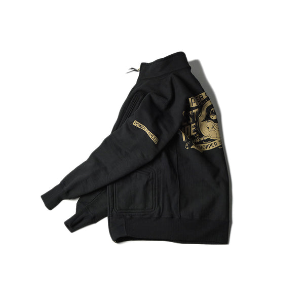 HEAVY WEIGHT FULL ZIP STAND - CATHERINE (BLACK)