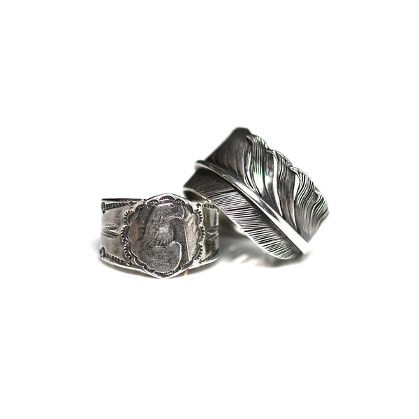 SPECIAL PEACE FEATHER RING SET