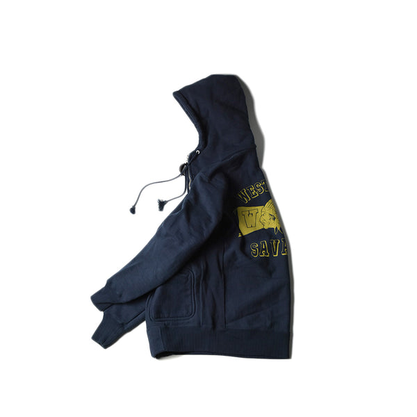 HEAVY WEIGHT FULL ZIP HOODIE - SAVAGES (NAVY)