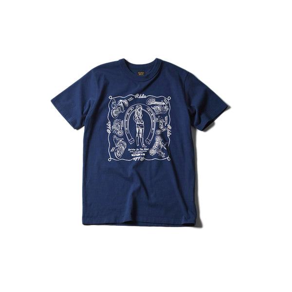 "May club -【WESTRIDE】""SURVIVE ON THE ROAD"" TEE - NAVY"