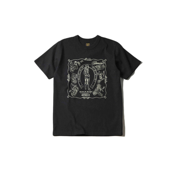 "May club -【WESTRIDE】""SURVIVE ON THE ROAD"" TEE - BLACK"