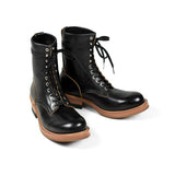 May club -【Addict Clothes】AD-S-02 STEERHIDE LACE-UP BOOTS - BLACK