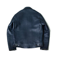 May club -【Addict Clothes】AD-01 Sheepskin Center Zip Jacket - Dark Blue (茶芯)