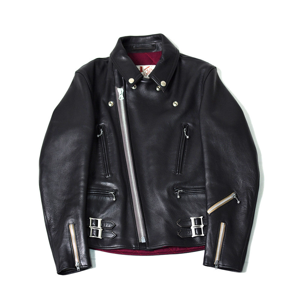 May club -【Addict Clothes】AD-02 Sheepskin Double Riders Jacket - Black(茶芯)