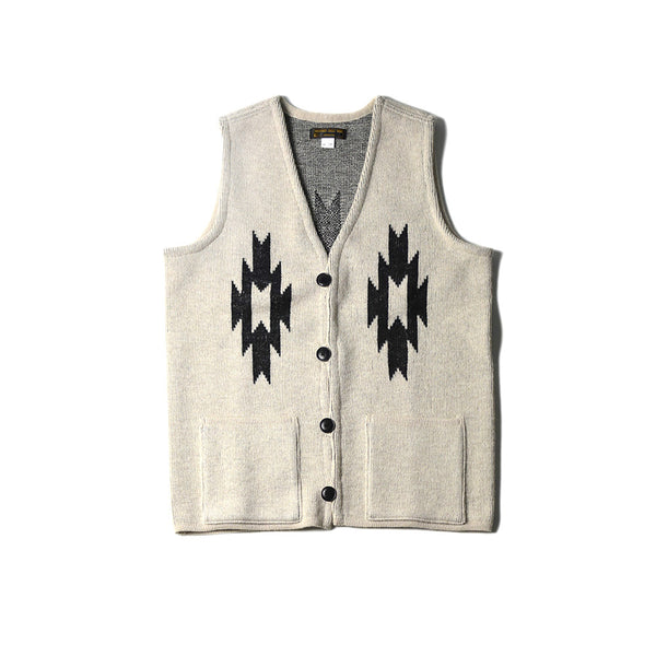 CHIMAYO KNIT VEST - NATURAL