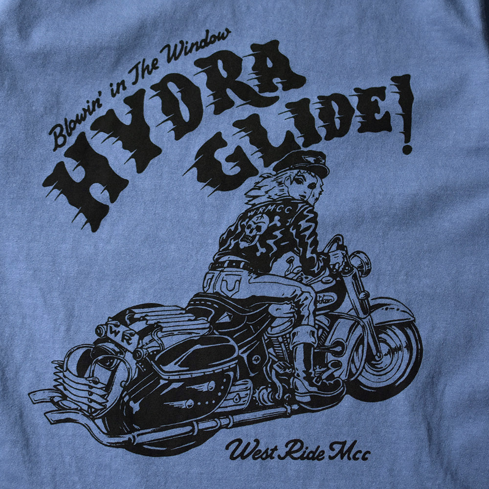 "May club -【WESTRIDE】""IN THE WIND"" TEE - W.BLUE"