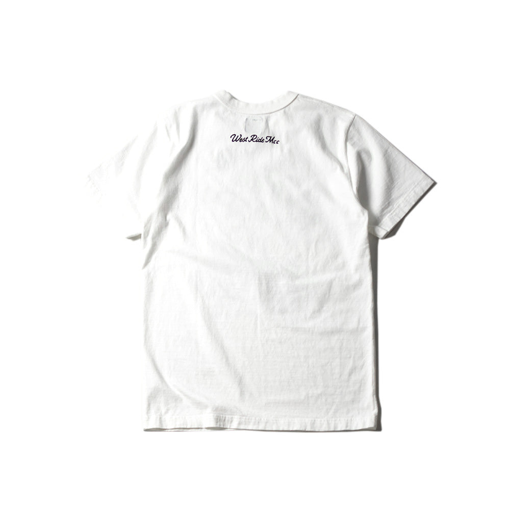 "May club -【WESTRIDE】""IN THE WIND"" TEE - WHITE"