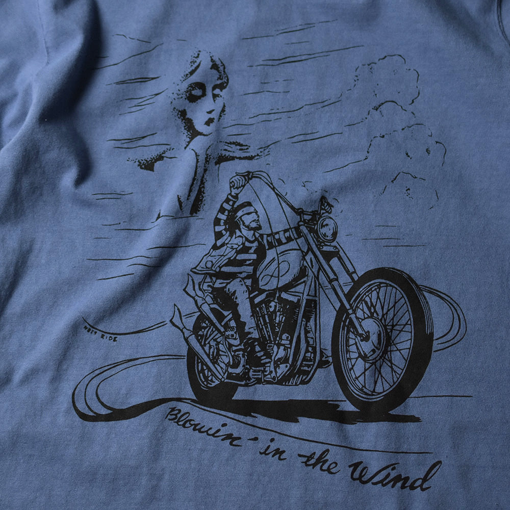 "May club -【WESTRIDE】""BLOWIN' IN THE WIND"" TEE - W.BLUE"