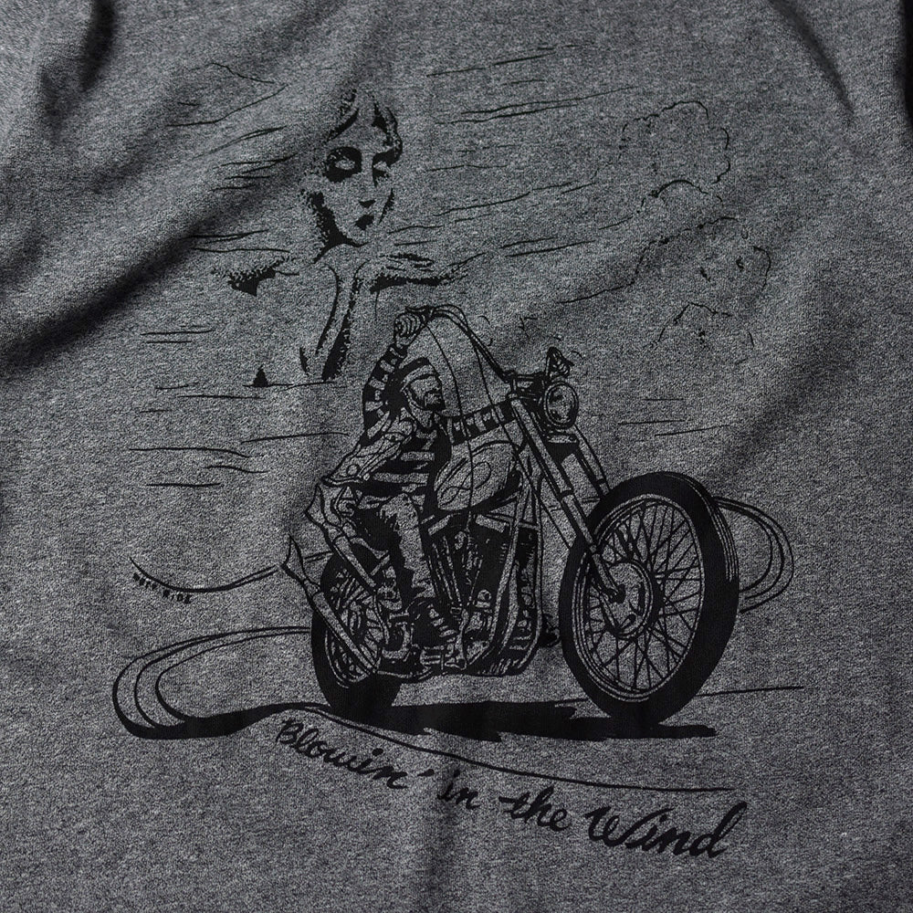 "May club -【WESTRIDE】""BLOWIN' IN THE WIND"" TEE - GREY"