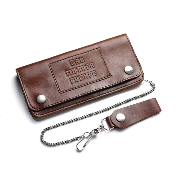 May club -【BAD QUENTIN】TRUCKER WALLET - BROWN