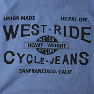 "May club -【WESTRIDE】""CYCLE-JEANS"" TEE - W.BLUE"