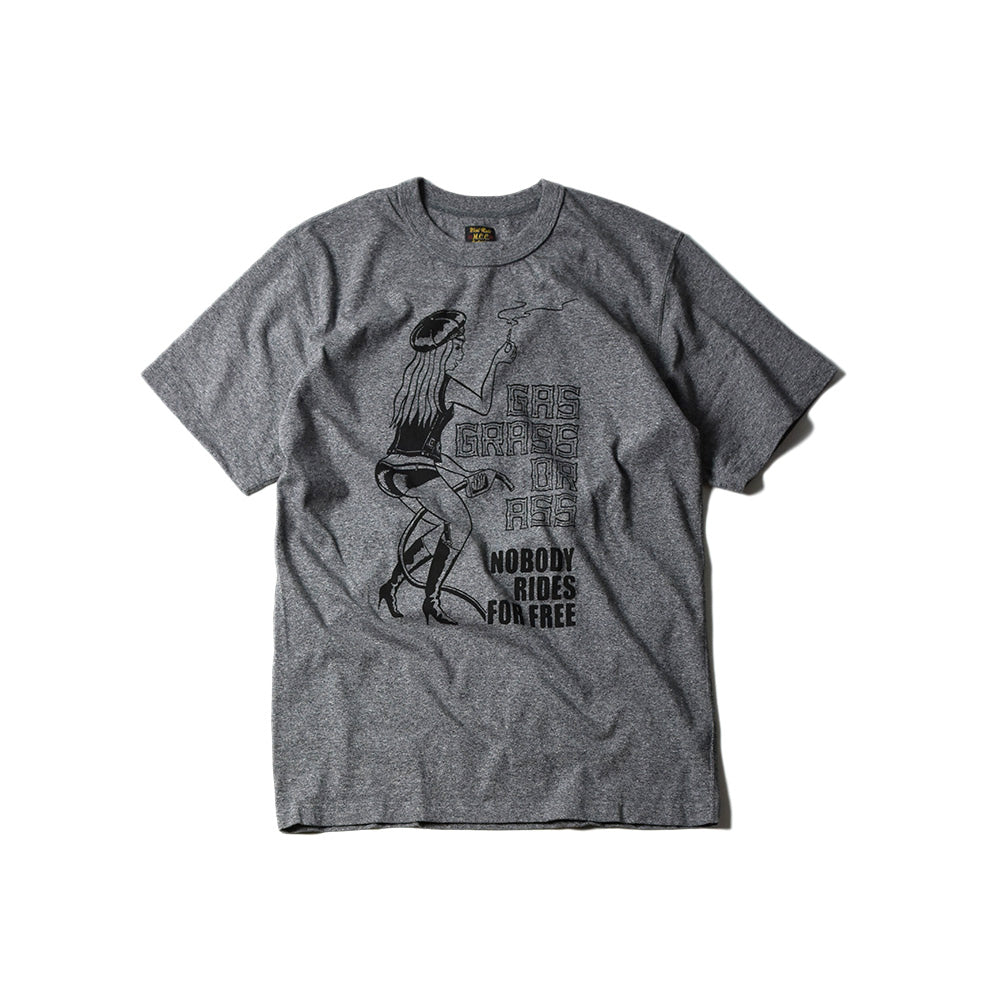 "May club -【WESTRIDE】""GAS GRASS OR ASS"" TEE - GREY"