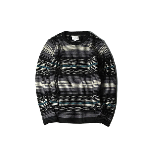 CLASSIC RIB RUG SWEATER - MIX GREEN