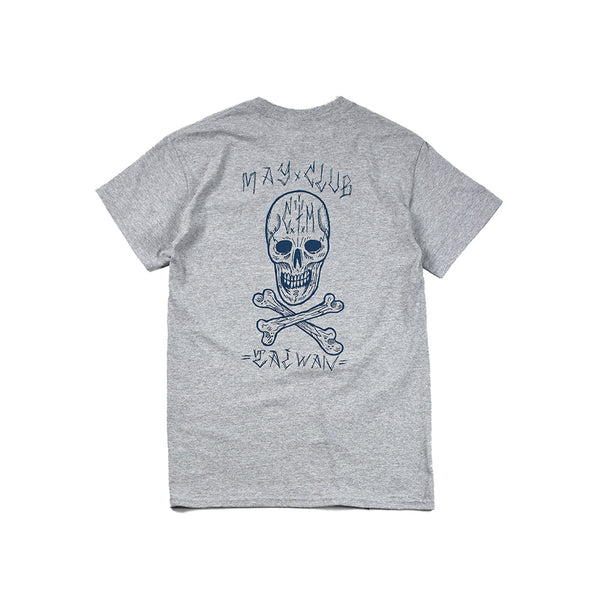 MAY CLUB x C.T.M SKULL TEE - GRAY
