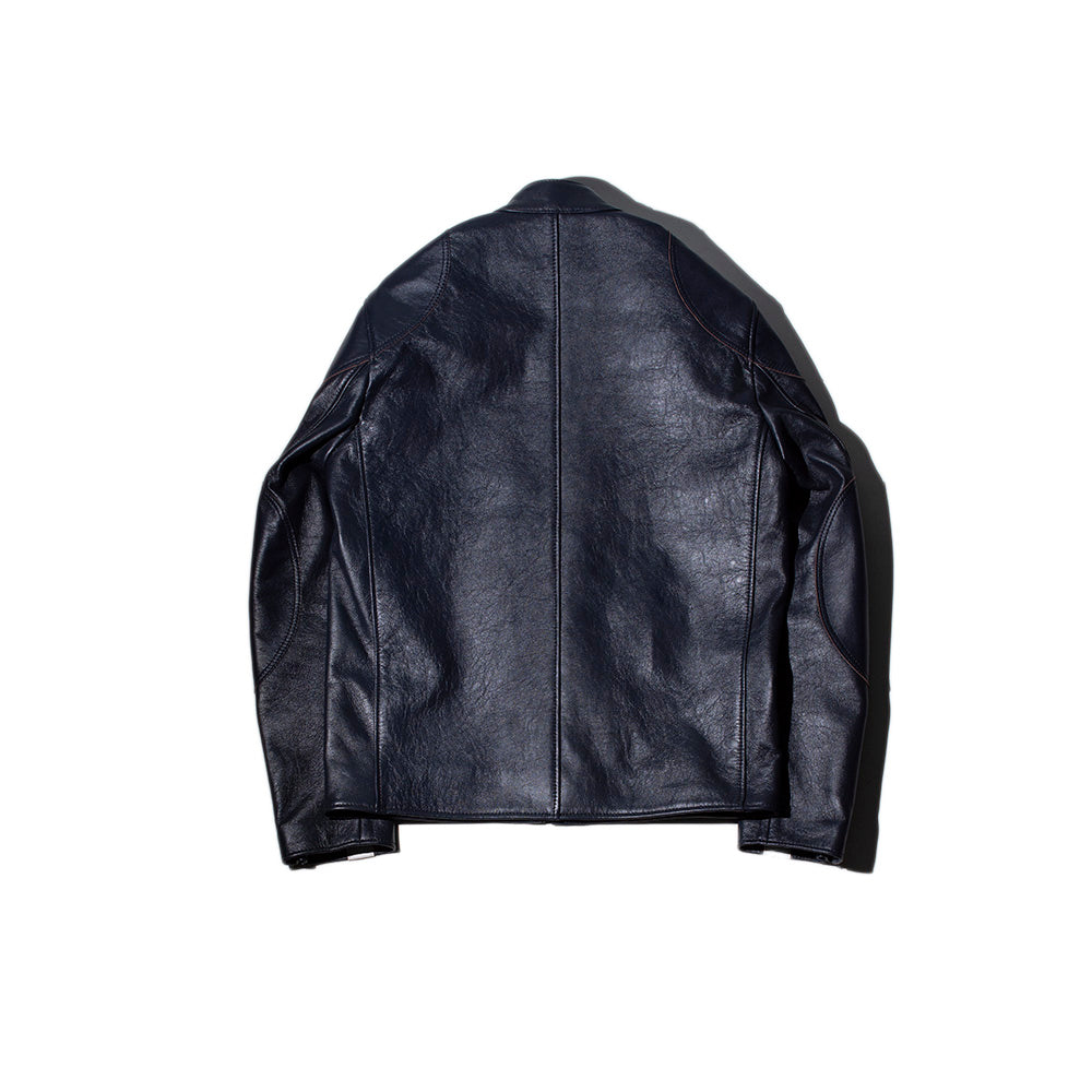 May club -【Addict Clothes】AD-05SS SHEEPSKIN CLUBMAN JACKET - DARK BLUE x WHITE SINGLE STRIPE