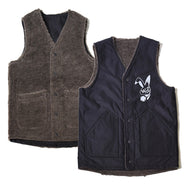 May club -【WESTRIDE】REVERSIBLE ARMY VEST - BLACK