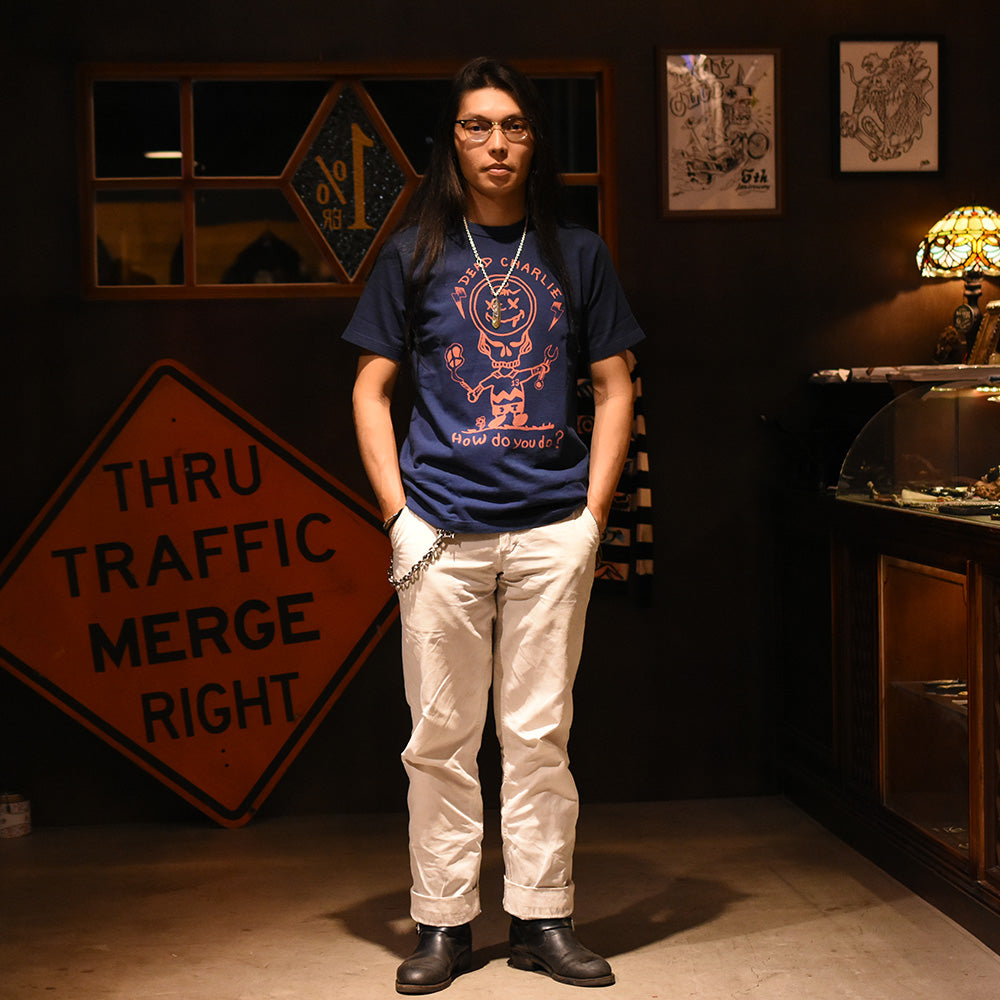 "May club -【WESTRIDE】""HOW DO YOU DO"" TEE - NAVY"