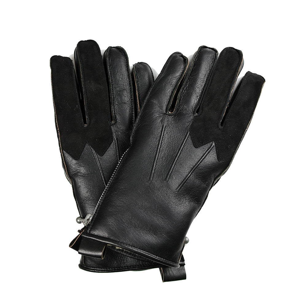 May club -【Addict Clothes】AD-G-01 SHEEPSKIN BOA GLOVES - BLACK(茶芯)