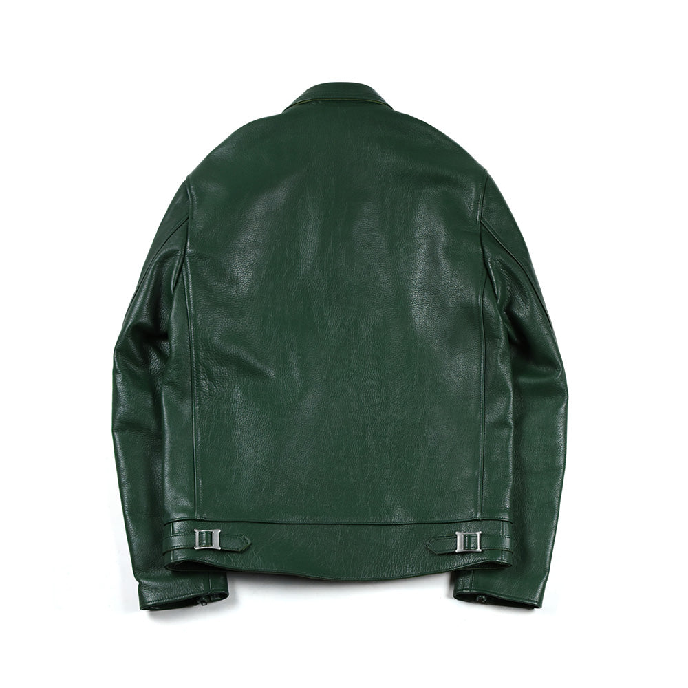 May club -【Addict Clothes】AD-01 KIP LEATHER CENTER ZIP JACKET - GREEN