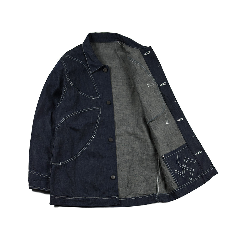 May club -【CxTxM】IRON CROSS DENIM JACKET