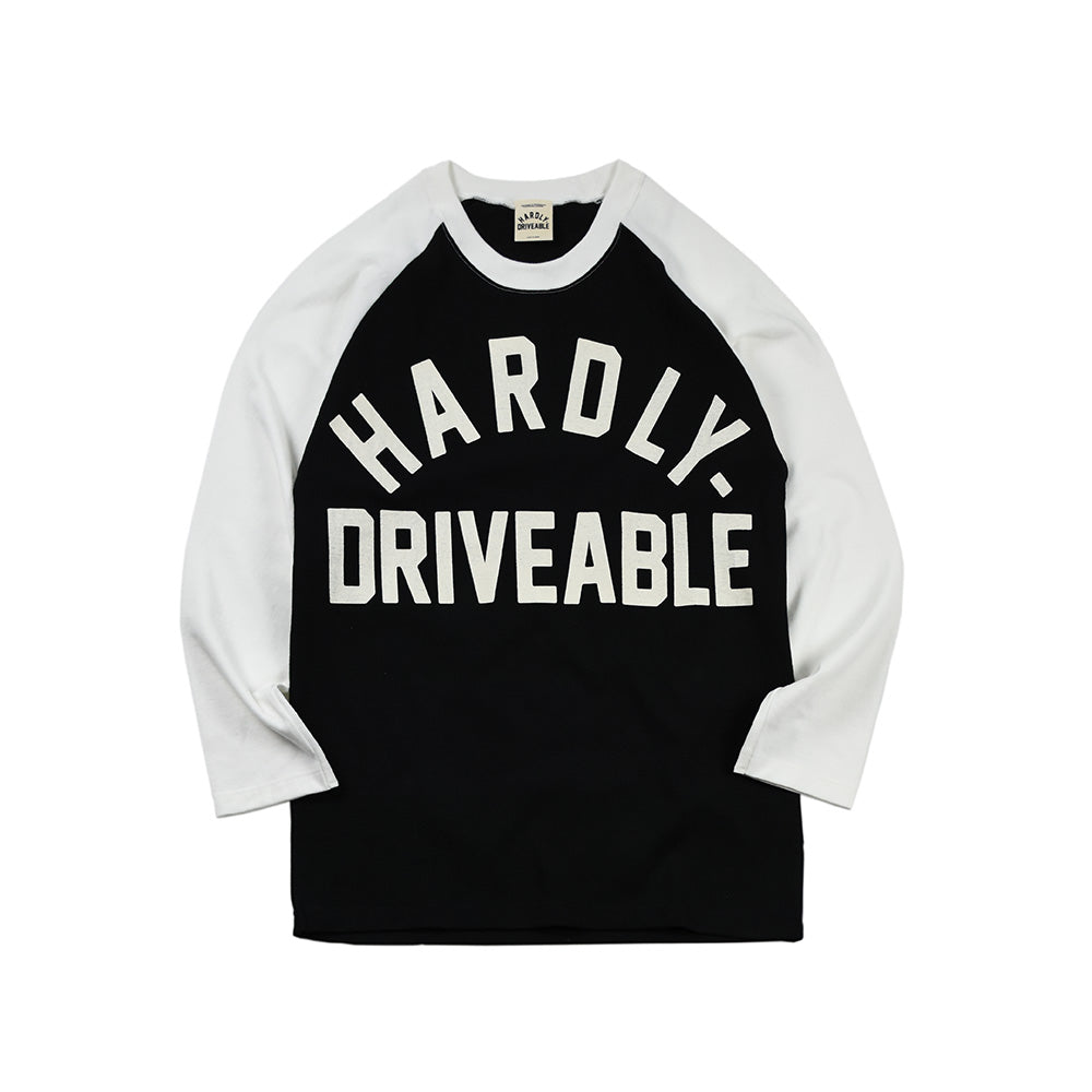 May club -【HARDLY-DRIVEABLE】Logo Long Sleeve T-Shirt (Arch-Beige)