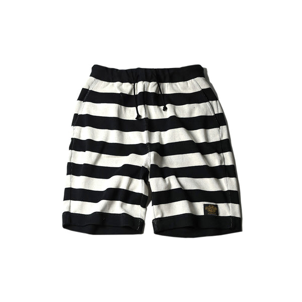 May club -【WESTRIDE】NGT KNIT BORDER SHORTS - BLK/IVRY