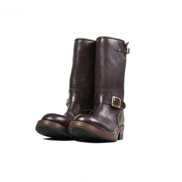 May club -【Addict Clothes】AD-S-01 STEERHIDE ENGINEER BOOTS - BROWN